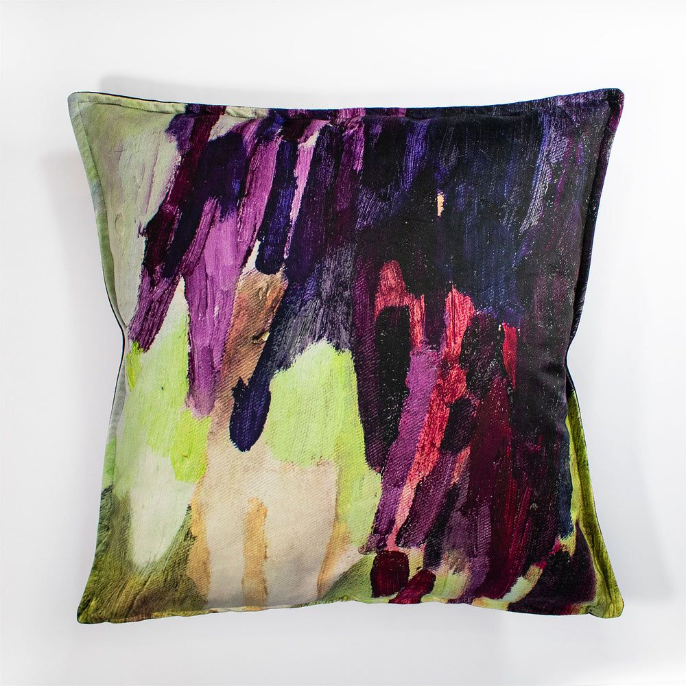 Lucy Jane Turpin Plum/Forest Velvet Scatter Cushion