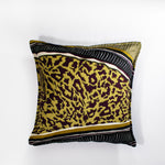 Zhi Zulu Leopard Stripe Velvet Scatter Cushion