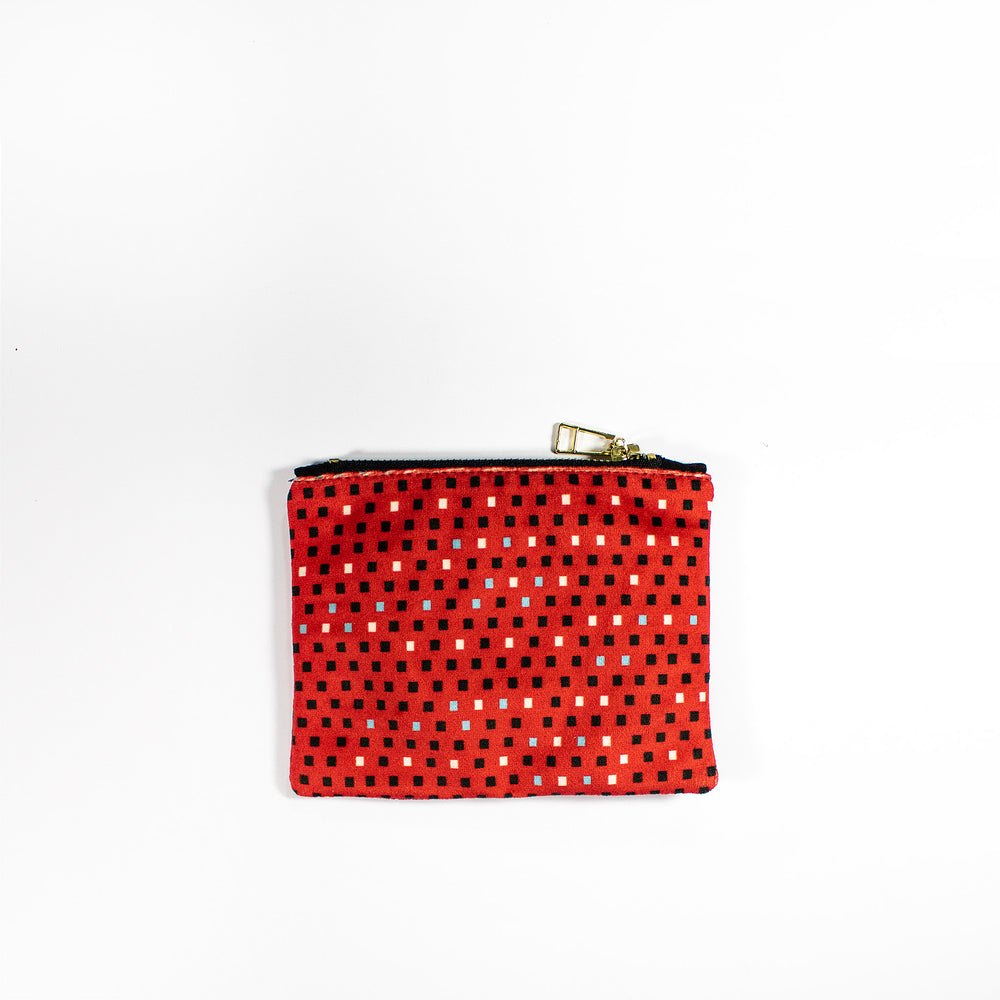 Beadwork Coin purse small pouch wallet Wanderland Wonderland Africa design beading Faatimah Mohamed Luke