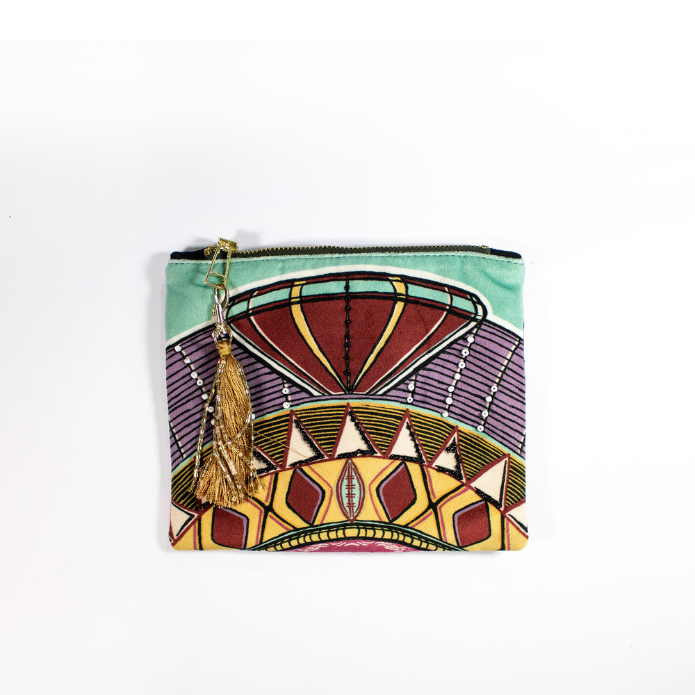 Zhi Zulu Crown Jewel Cosmetic Pouch
