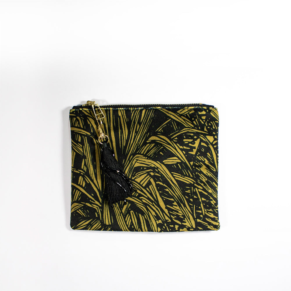 Aureum Jungle Gold Black Cosmetic Pouch