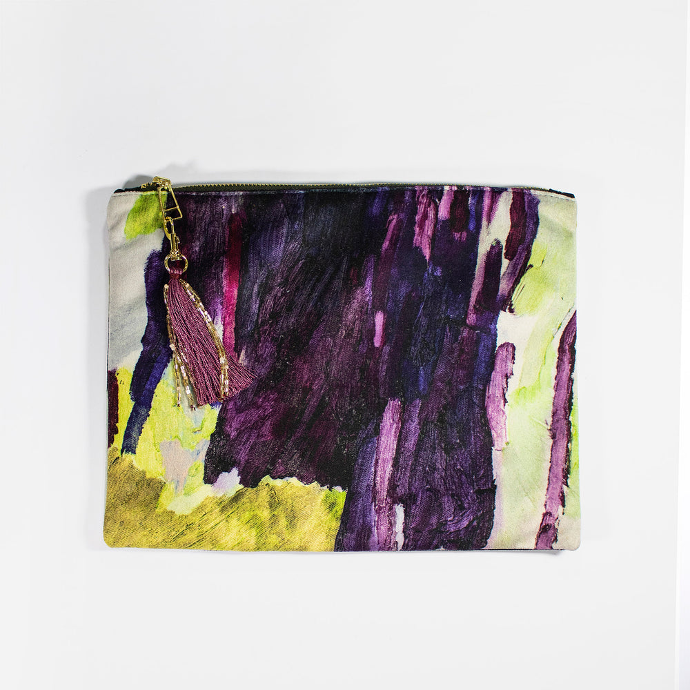 Lucy Jane Turpin Plum/Forest Clutch