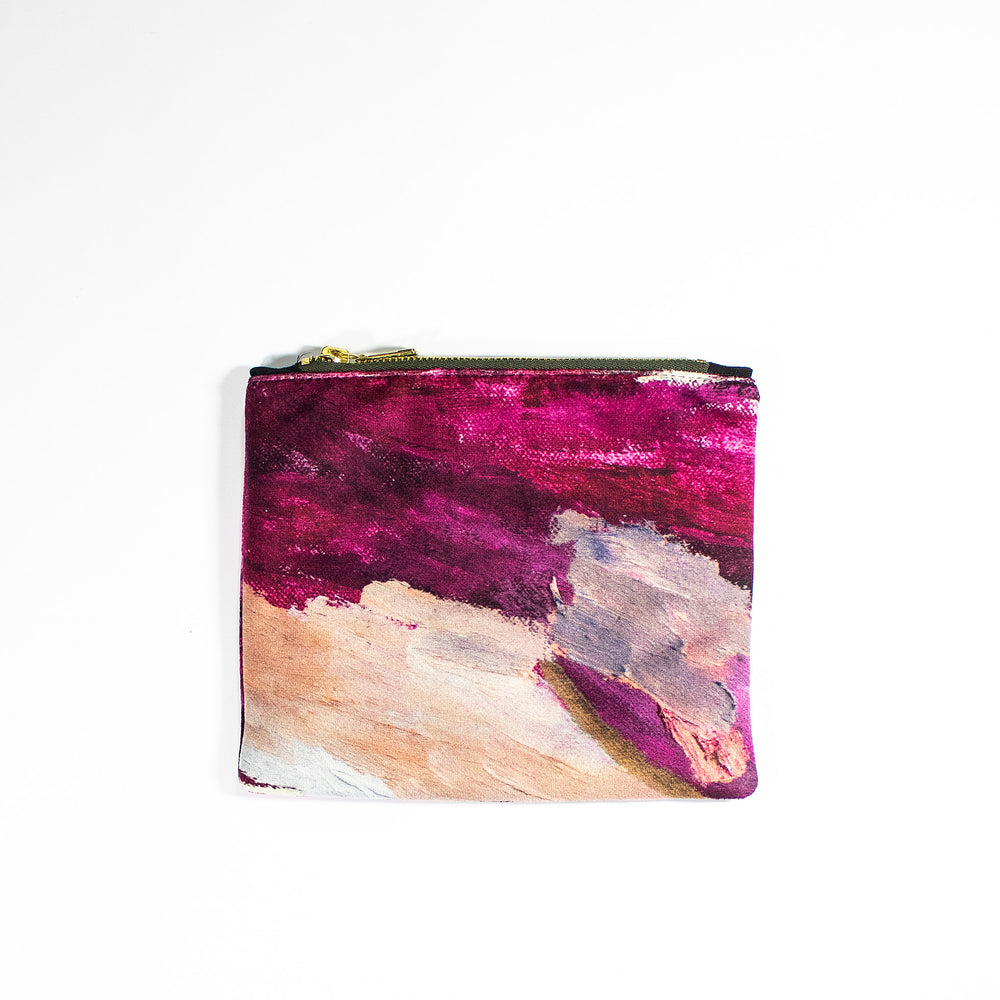 Lucy Jane Turpin Plum Cosmetic Pouch