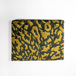 Zhi Zulu Leopard Gold Charcoal Clutch