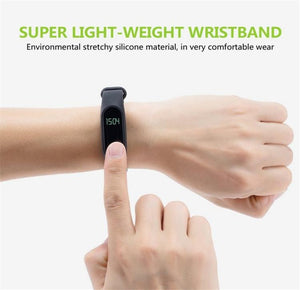 M2 Hot Bracelet Intelligent Wristband 0,42 '' OLED Bluetooth 4.0 Activité Tracker Podomètre Fréquence Cardiaque Fitness Tracker