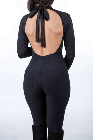COURAGE open back bodysuit black