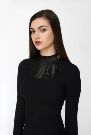 SHADOW fringe choker