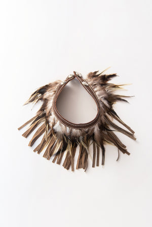 RISING SUN feather n' fringe choker - this color coming soon!