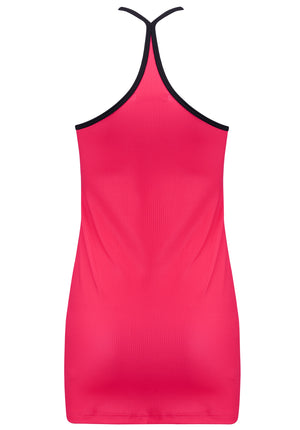MARIANA long tank top raspberry