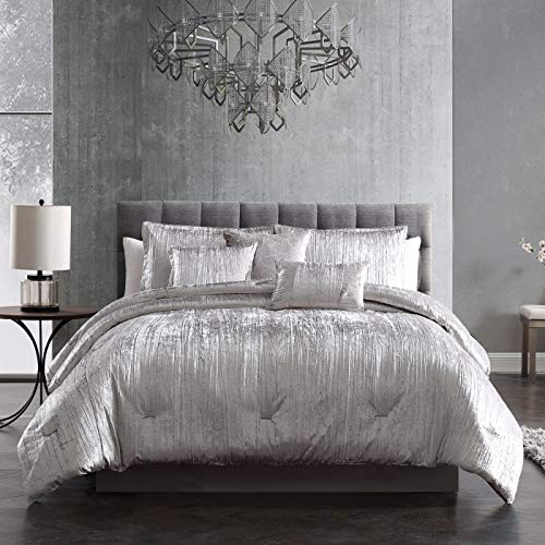 Riverbrook Home Turin Comforter Set, King, Set of 7, Silver