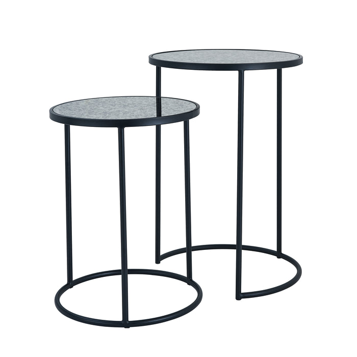 Alcovy Metal Nesting Accent Tables – 2pc Set