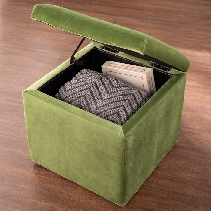Tarzly Upholstered Storage Ottoman