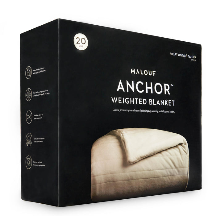 "Malouf Weighted Blanket, 48"" x 72"", 12 lbs"