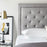 Rectangle Diamond Tufted Upholstered Headboard