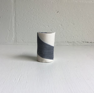 Gray & White Vessel Small