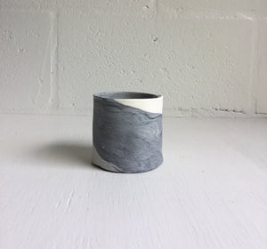 Gray & White Cup