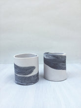 Gray & White Medium Cup