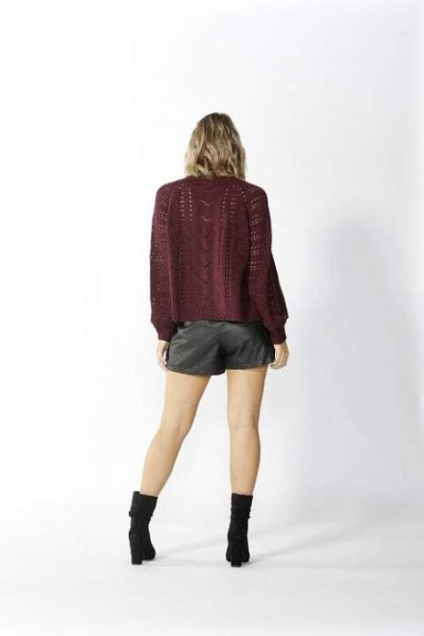 Halliday Lace Knit Cardigan