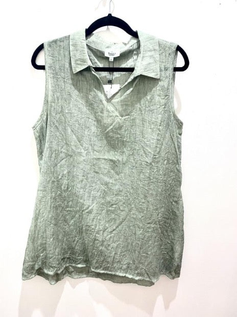 Threadz Sleeveless Crushed Shirt