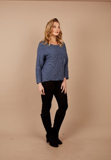 Raglan Rib & Front Pocket Jumper