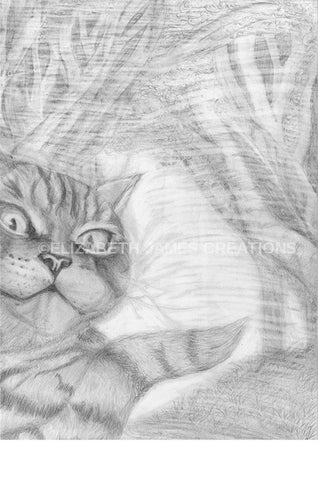 Original Cheshire Cat Illustration