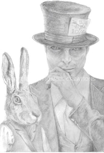 Original Hatter and the Hare Illustration