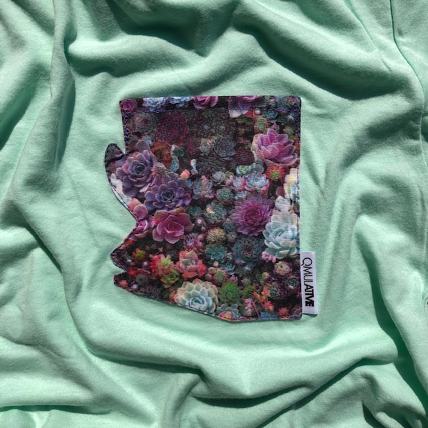 """NEW SUCCULENT"" AZ Pocket Tee"
