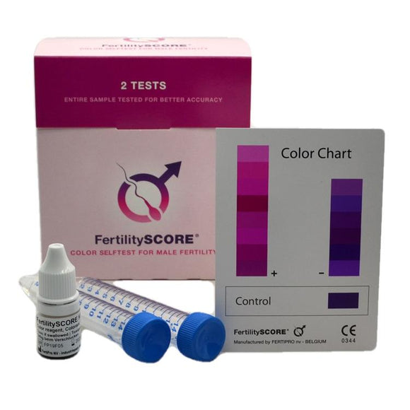 FertilityScore 2 Male Fertility Test kit pack