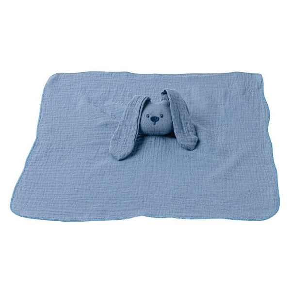 Nattou faceted Doudou Blue Cotton