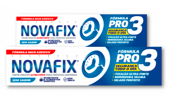 Novafix Pro 3 Cream Sticker Prosthetics No flavor with 2nd Offer Package
