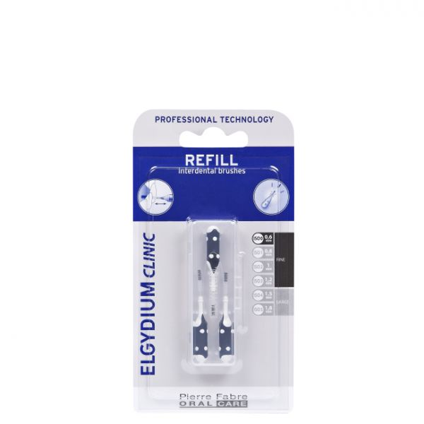Elgydium Clinic Refill Black Brushes