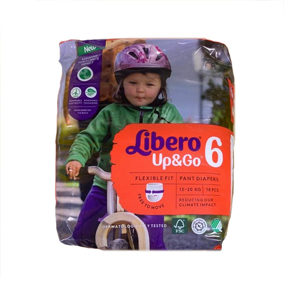Diapers Libero Up & Go T6 x18