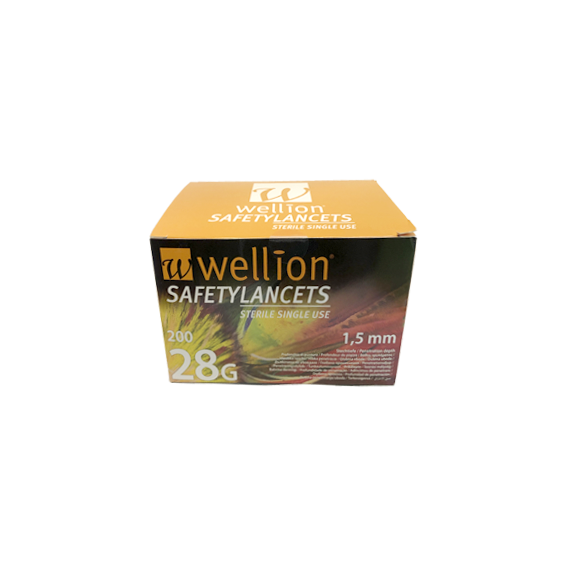 Wellion Pl lancet 28g x200