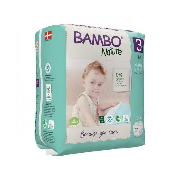Bamboo Nature diapers x 28 3 M 4-8kg