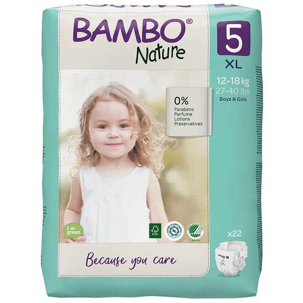 Bambo Nature nappies 5 XL 12-18Kg X22