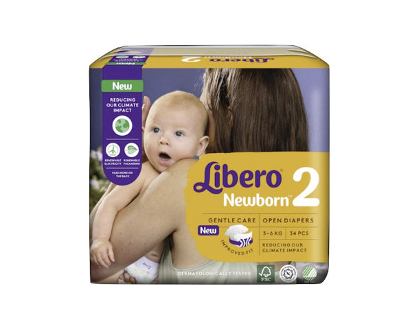 Libero diapers Newborn 2 3-6Kg X34