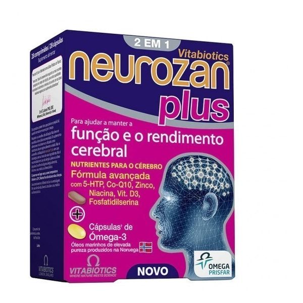 Neurozan Plus Omega-3 28 Tablets Unit (s) + 28 Capsules Unit (s)