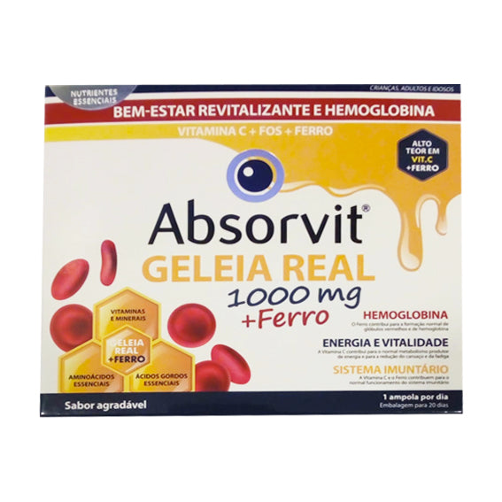 Absorvit Royal Jelly 1000mg + Iron Bulbs x20