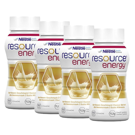 Nestle Resource Energy Solution Oral Apricot 200ml x4
