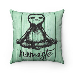 Namaste Sloth Pillow with Insert
