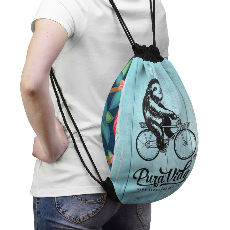 Ride Slow Drawstring Bag