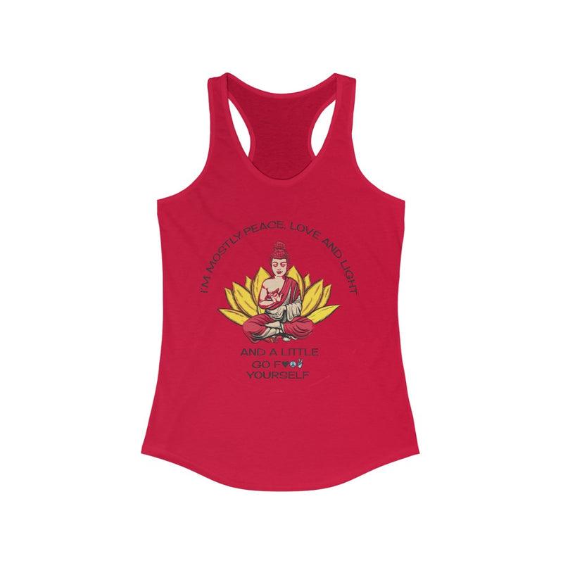 Mostly Love and Light...  Women's Racerback Tank
