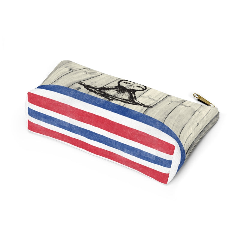 Costa Rican Flag Cosmetic bag