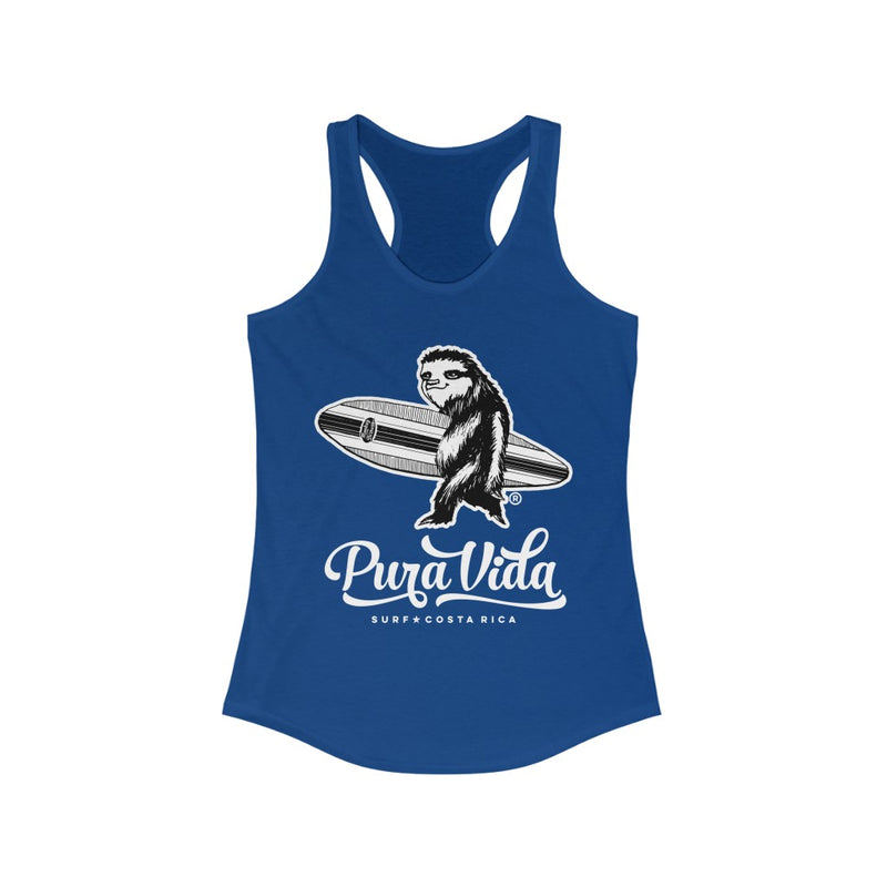 Surfing Sloth Women's Racerback Tank