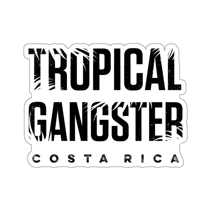 Tropical Gangster Die Cut Sticker