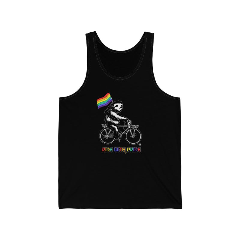 Ride with PRIDE! Unisex Jersey Tank