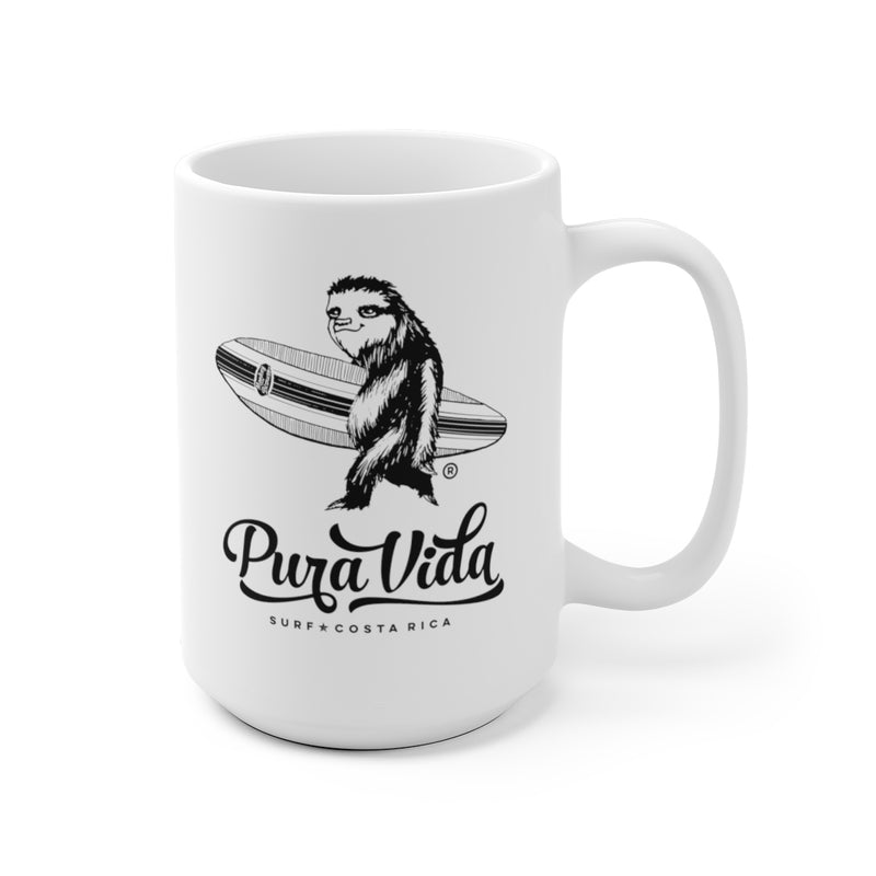 Surfing Sloth Ceramic Mug
