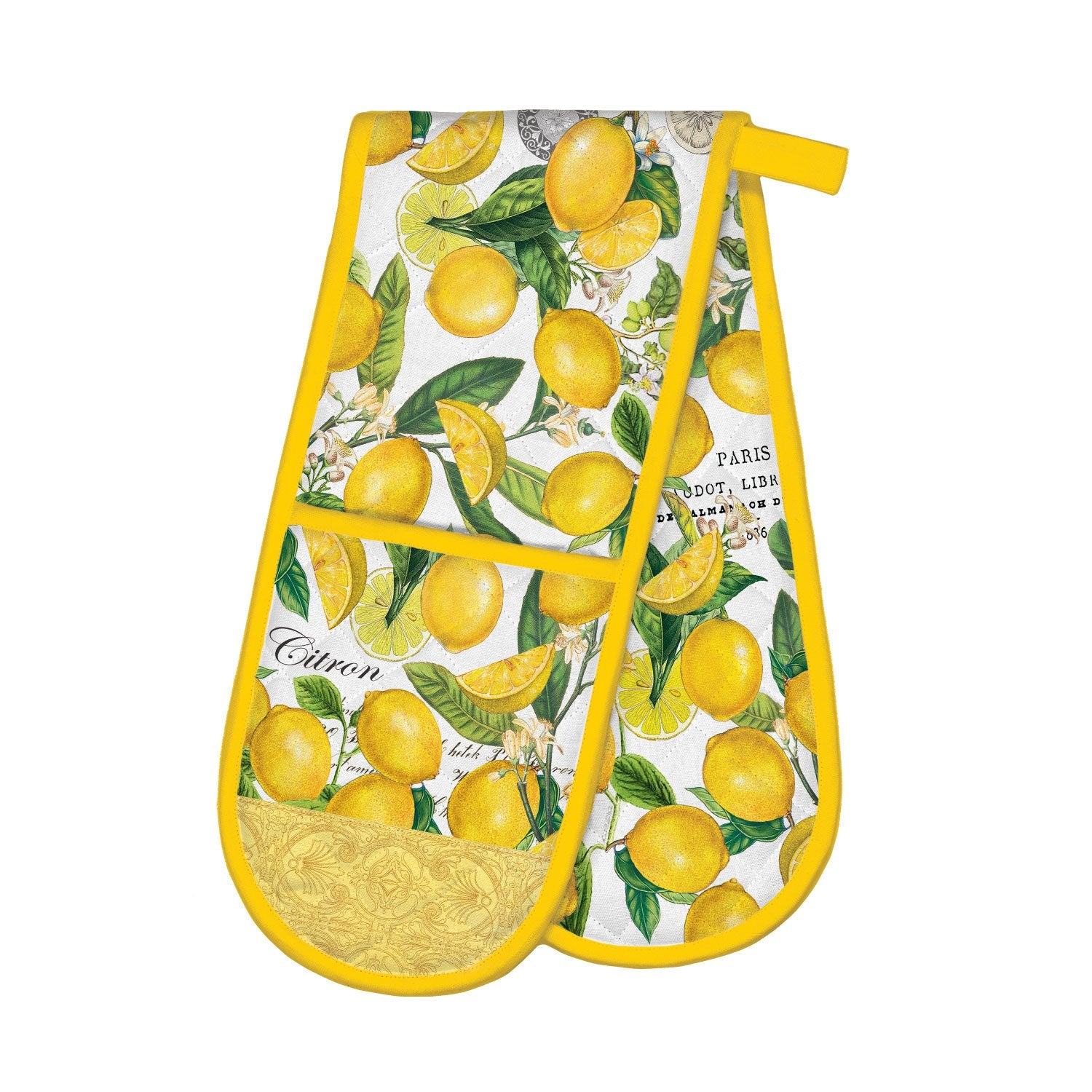 Lemon Basil Double Oven Glove