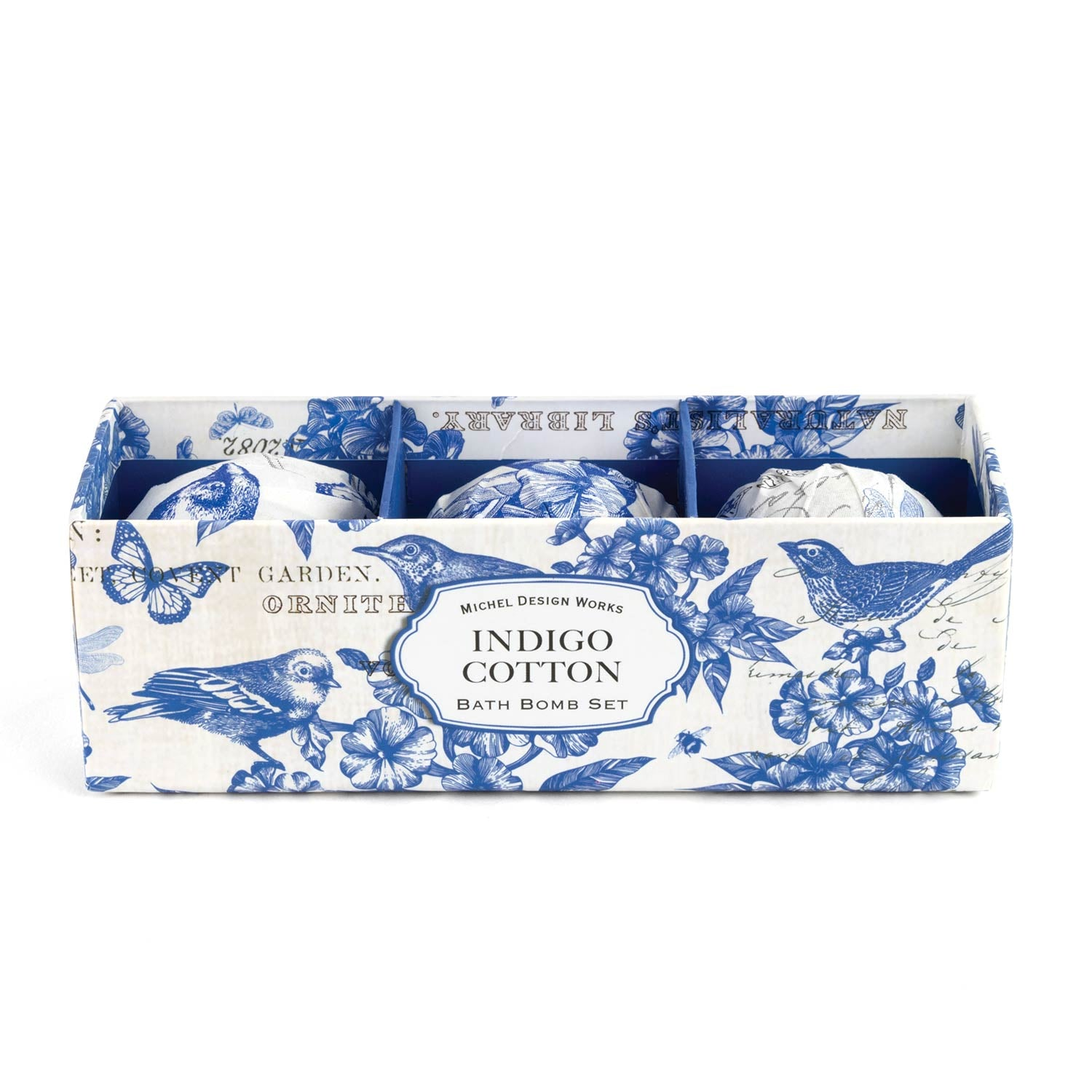 Indigo Cotton Bath Bomb Set