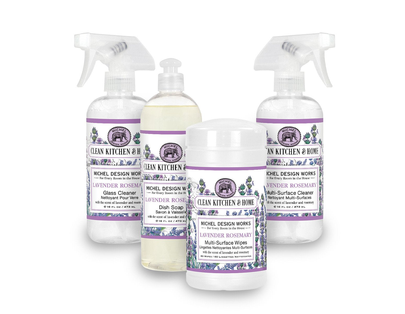 Lavender Rosemary Clean Kitchen Set